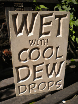Wet With Cool Dew Drops