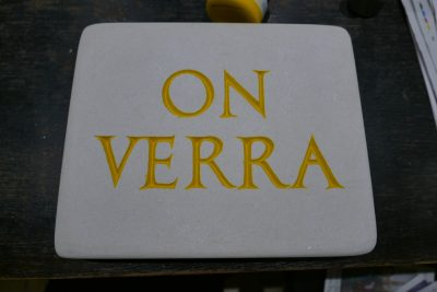 On Verra (Prep for gold leafing)