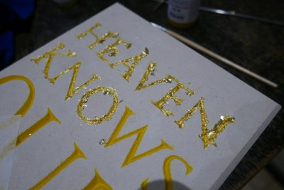 Gold Leafing Heaven Knows
