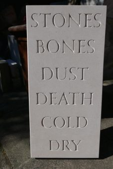 Stones Bones Dust Death Cold Dry